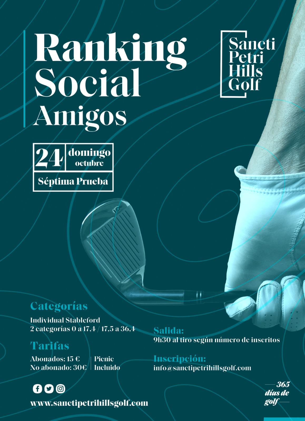 7ª Prueba | Ranking Social Amigos Sancti Petri Hills Golf Race to 2022